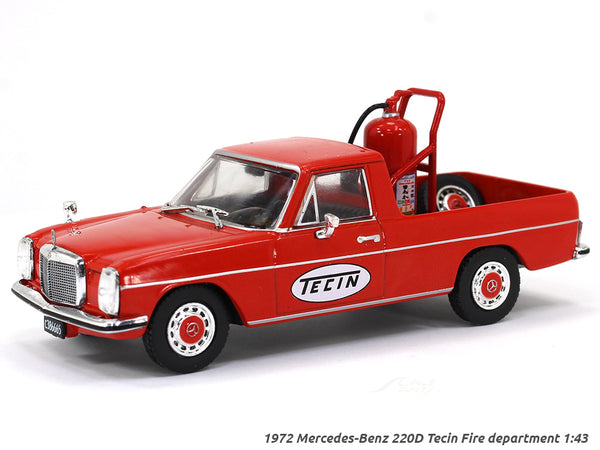 1972 Mercedes-Benz 220D Tecin Fire department 1:43 diecast Scale Model Car