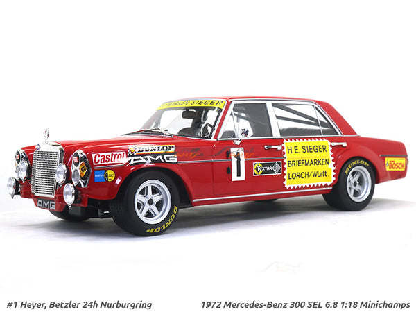 1972 Mercedes-Benz 300 SEL 6.8 1:18 Minichamps diecast scale model car