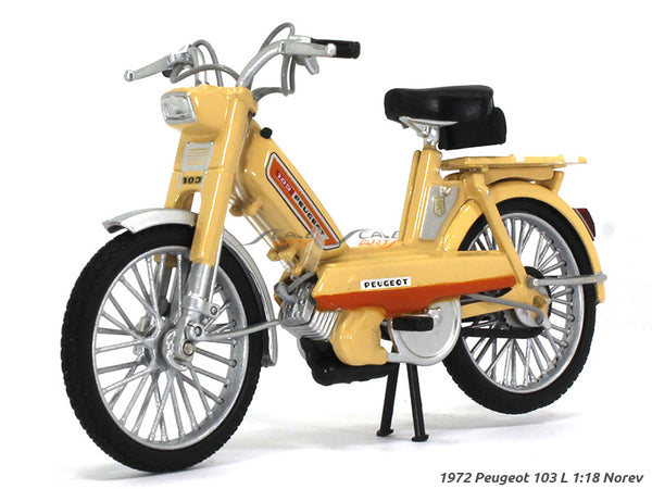 1972 Peugeot 103 L 1:18 Norev diecast scale model bike