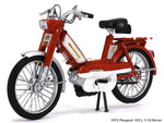 1972 Peugeot 103 L red 1:18 Norev diecast scale model bike