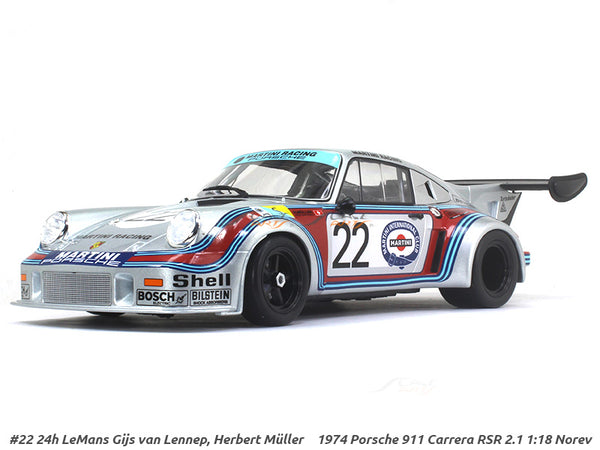 Copy of 1974 Porsche 911 Carrera RSR 2.1 24h LeMans Gijs van Lennep, Herbert Muller 1:18 Norev diecast scale model car