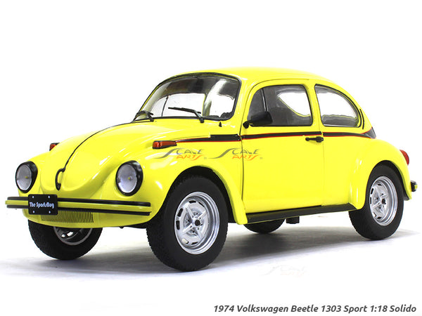 1974 Volkswagen Beetle 1303 Sport yellow 1:18 Solido diecast Scale Model Car