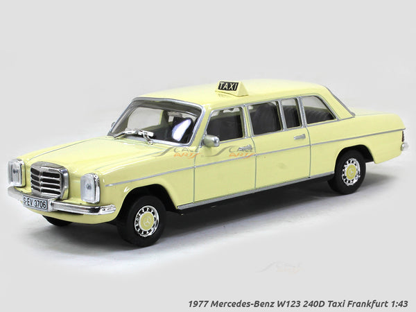 1977 Mercedes-Benz W123 240D Taxi Frankfurt 1:43 diecast Scale Model Car