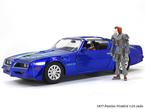 "1977 Pontiac Firebird Pennywise & Henry Bowers ""It"" movie 1:24 Jada scale model"