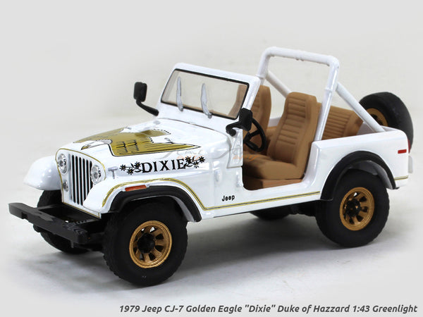 "1979 Jeep CJ-7 Golden Eagle ""Dixie"" Duke of Hazzard 1:43 Greenlight Scale Model Car"