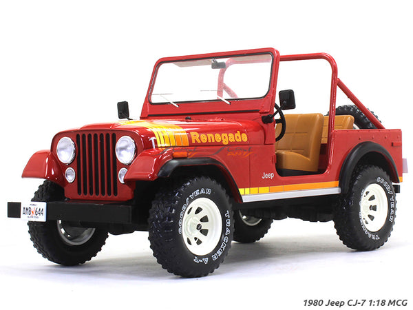 1980 Jeep CJ-7 red 1:18 MCG diecast Scale Model Car