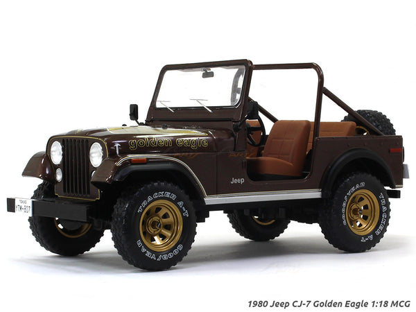 1980 Jeep CJ-7 Golden Eagle 1:18 MCG diecast Scale Model Car