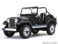 1980 Jeep CJ-7 black 1:18 MCG diecast Scale Model Car