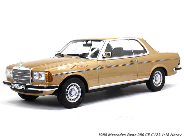 1980 Mercedes-Benz 280CE C123 gold 1:18 Norev diecast scale model car