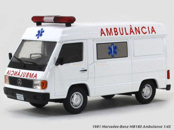 1981 Mercedes-Benz MB180 Ambulance 1:43 diecast scale model