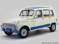 1981 Renault 4L 1:18 Solido diecast Scale Model Car