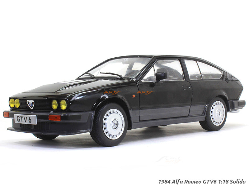 1984 Alfa Romeo Gtv6 Black 1 18 Solido Diecast Scale Model