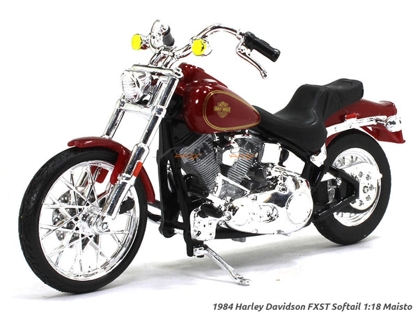 1984 FXST Softail Red Harley Davidson 1:18 Maisto diecast scale model bike