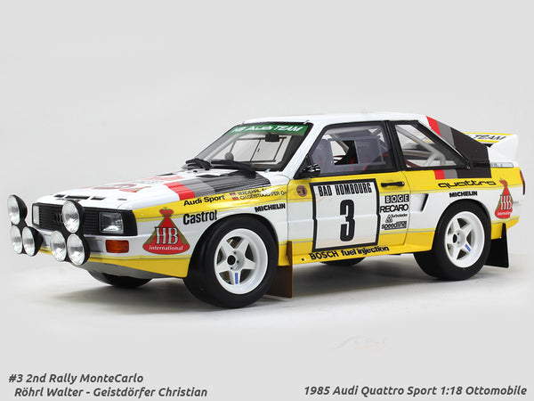 1985 Audi Quattro Sport #3 Rally MonteCarlo 1:18 Ottomobile scale model car