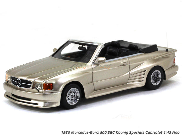 1985 Mercedes-Benz 500 SEC Koenig Specials Cabriolet 1:43 Neo Scale Model Car