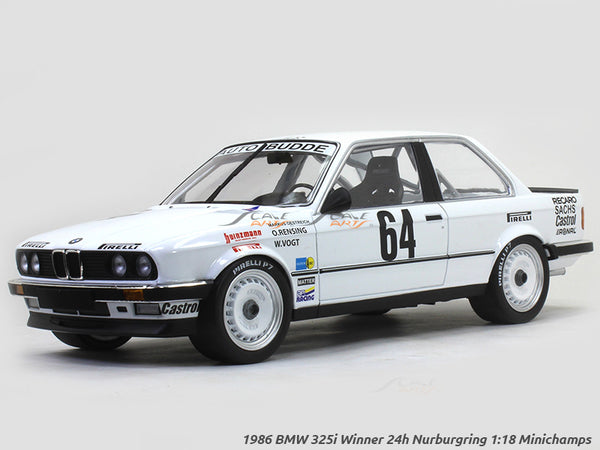 1986 BMW 325i Winner 24h Nurburgring 1:18 Minichamps diecast scale model car
