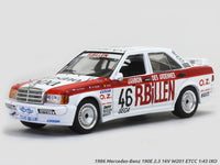 1986 Mercedes-Benz 190E 2.3 16V W201 ETCC 1:43 IXO diecast Scale Model car