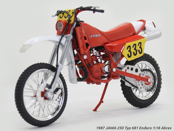 1987 JAWA 250 Typ 681 Enduro 1:18 Abrex diecast Scale Model Bike