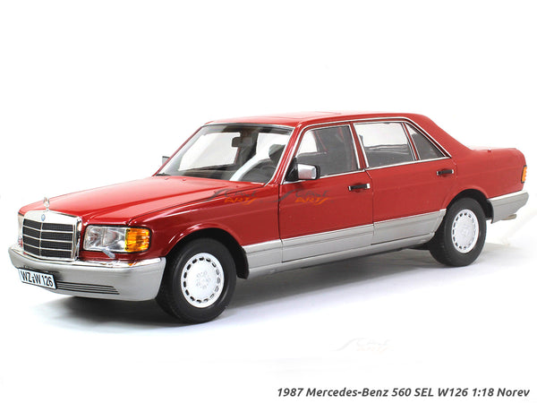 1987 Mercedes-Benz 560 SEL W126 red 1:18 Norev diecast scale model car