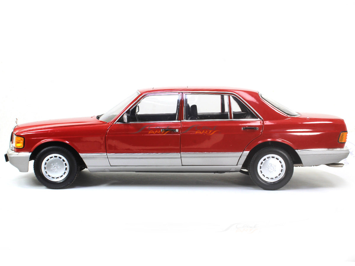 1987 Mercedes Benz 560 Sel W126 Red 1 18 Norev Diecast