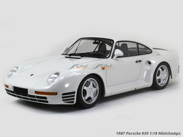 1987 Porsche 959 white 1:18 Minichamps diecast scale model car