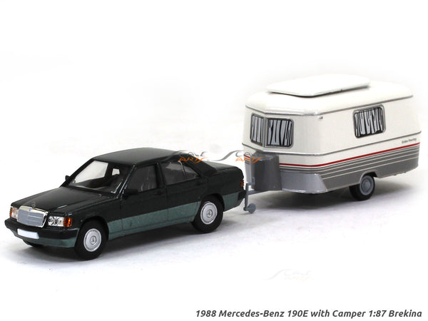 1988 Mercedes-Benz 190E with Camper 1:87 Brekina HO Scale Model car