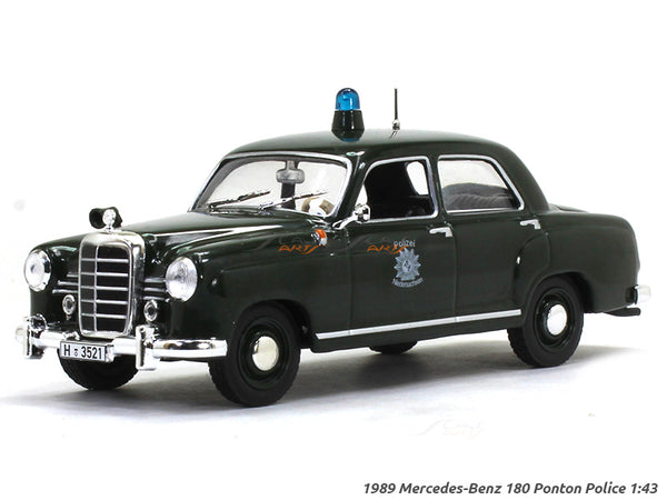 1989 Mercedes-Benz 180 Ponton Police 1:43 diecast Scale Model Car