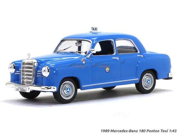 1989 Mercedes-Benz 180 Ponton Taxi 1:43 diecast Scale Model Car