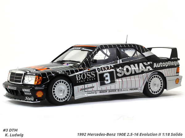 1992 Mercedes-Benz 190E 2.5-16 Evolution II Sonax 1:18 Solido diecast Scale Model car
