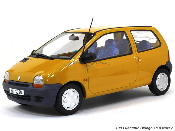 1993 Renault Twingo indian yellow 1:18 Norev scale diecast collectible model