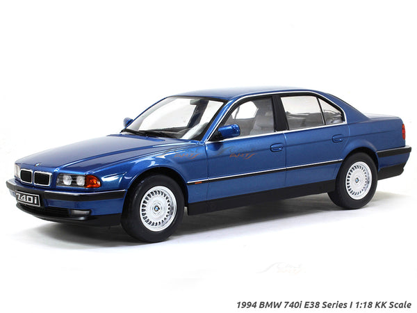 Pre Order: 1994 BMW 740i E38 Series I Blue 1:18 KK Scale diecast model car