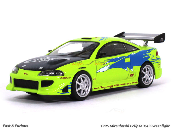 1995 Brian's Mitsubishi Eclipse Fast n Furious 1:43 Greenlight diecast Scale Model car