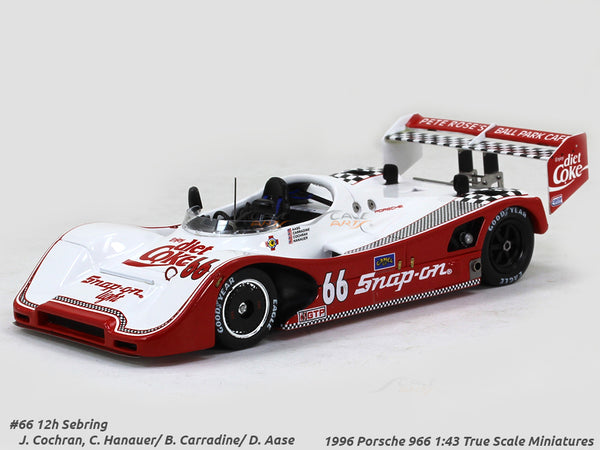1996 Porsche 966 #66 coca cola 12h Sebring 1:43 True Scale Miniatures Scale Model Car
