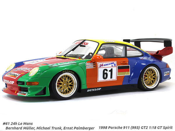 1998 Porsche 911 (993) GT2 #61 24h LeMans 1:18 GT Spirit scale model car