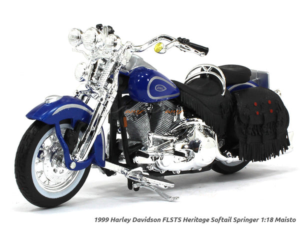 1999 FLSTS Heritage Softail Springer Harley Davidson 1:18 Maisto diecast scale model bike