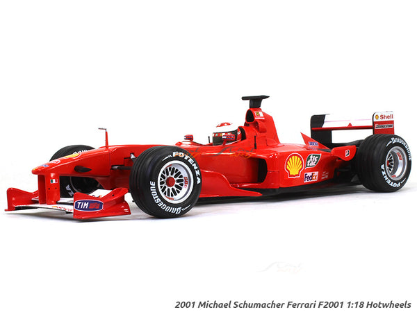 2001 Michael Schumacher Ferrari F2001 1:18 Hotwheels diecast Scale Model Car