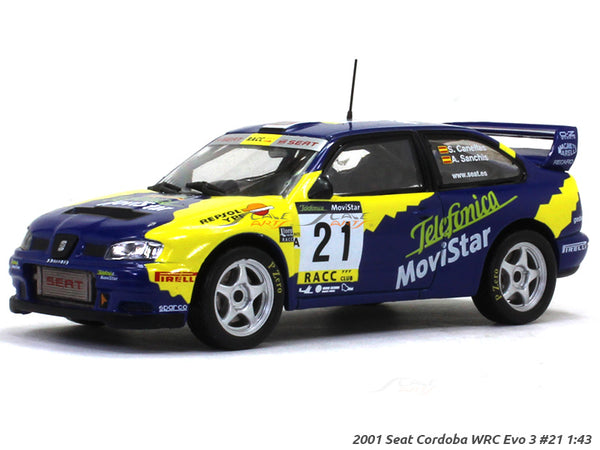 2001 Seat Cordoba WRC Evo 3 #21 1:43 diecast scale model car
