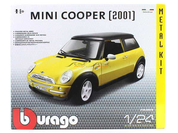 2001 Mini Cooper 1:24 Bburago Model Kit car diecast scale model
