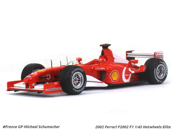 2002 Ferrari F2002 F1 Michael Schumacher 1:43 Hotwheels Elite diecast Scale Model Car