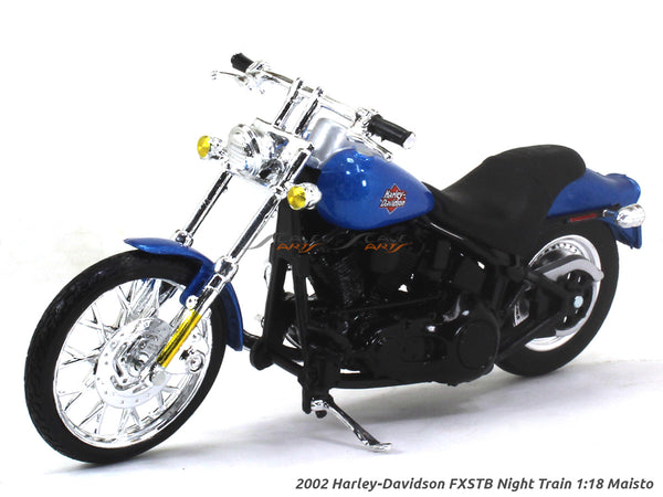 2002 Harley-Davidson FXSTB Night Train 1:18 Maisto diecast scale model bike