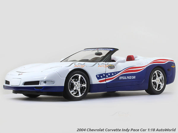 2004 Chevrolet Corvette Indy Pace Car 1:18 Auto World diecast scale model car