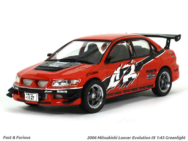 2006 Sean's Mitsubishi Lancer Evolution Fast n Furious 1:43 Greenlight diecast Scale Model car