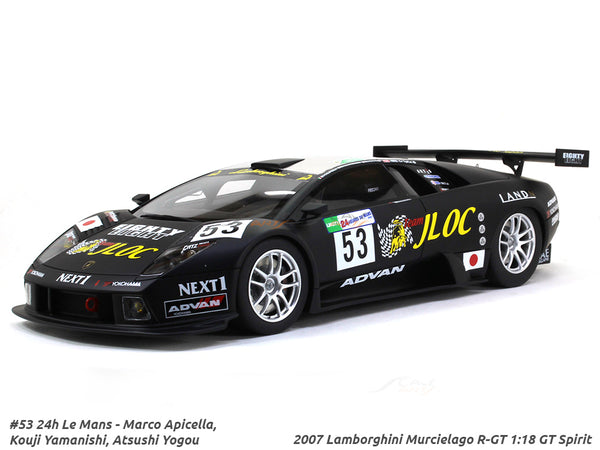 2007 Lamborghini Murcielago R-GT #53 1:18 GT Spirit scale model car