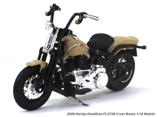 2008 Harley-Davidson FLSTSB Cross Bones 1:18 Maisto diecast scale model bike
