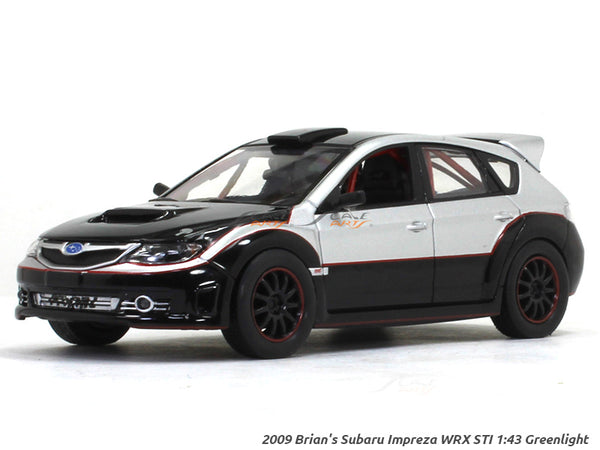 2009 Brian's Subaru Impreza WRX STI Fast n Furious 1:43 Greenlight diecast Scale Model car