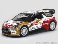 2013 Citroen DS 3 WRC #2 1:32 Bburago diecast Scale Model Car