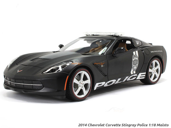 2014 Chevrolet Corvette Stingray Police 1:18 Maisto diecast Scale Model car
