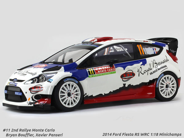 2014 Ford Fiesta RS WRC 2nd Rally Monte Carlo 1:18 Minichamps diecast scale model car