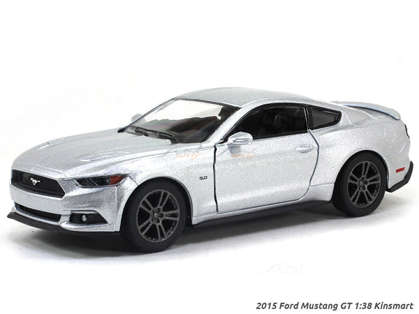 2015 Ford Mustang GT silver 1:38 Kinsmart diecast Scale Model Car