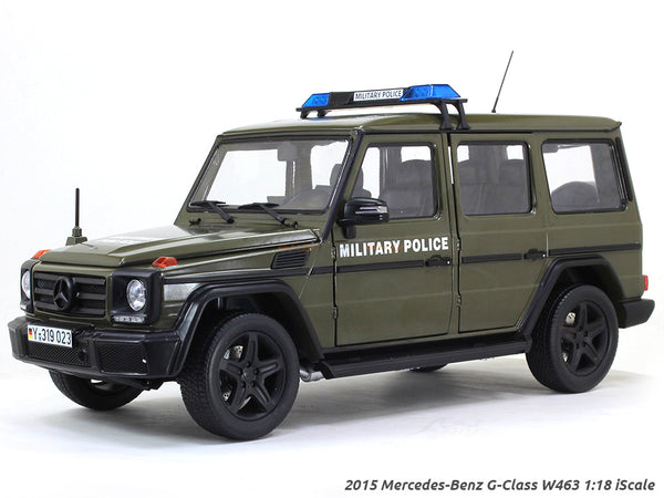 2015 Mercedes-Benz G-Class W463 Militari Police 1:18 iScale diecast Scale Model Car